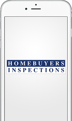 An iPhone displaying the Homebuyers Inspections agent booking app